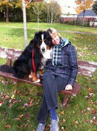Hélène et son Bouvier Bernois Chanel un chien anxieux